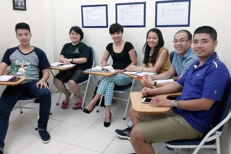 Lớp học tại IELTS Đình Long