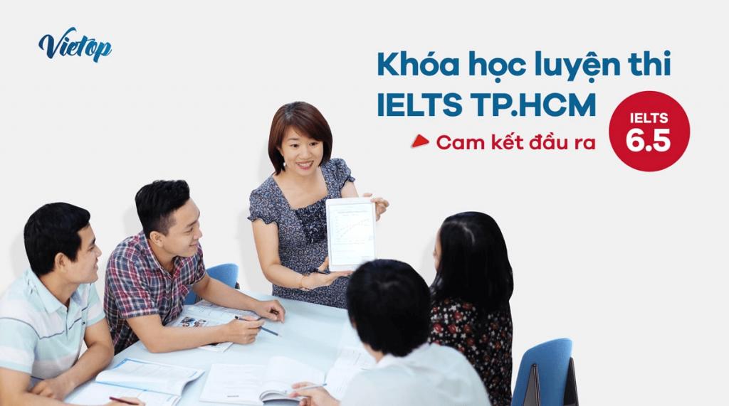 Cam kết chuẩn đầu ra tại IELTS Vietop.