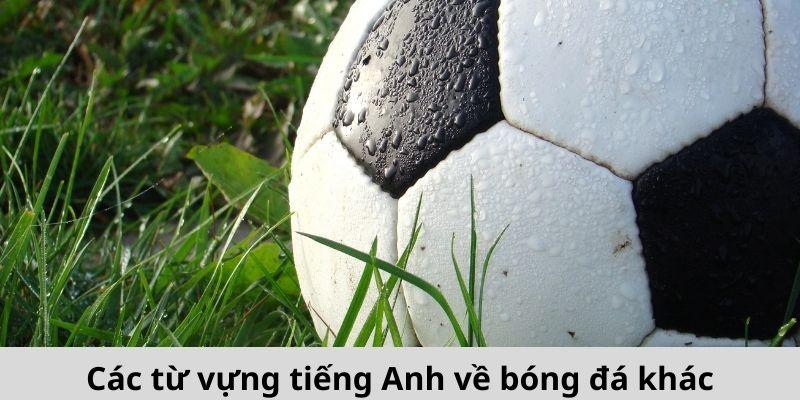 Các từ vựng tiếng Anh về bóng đá khác