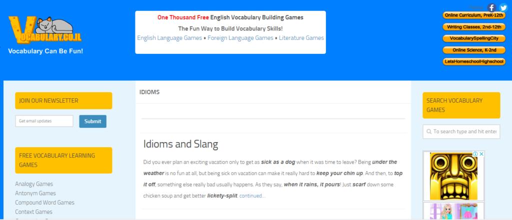 Học từ vựng tiếng Anh với Vocabulary Can Be Fun