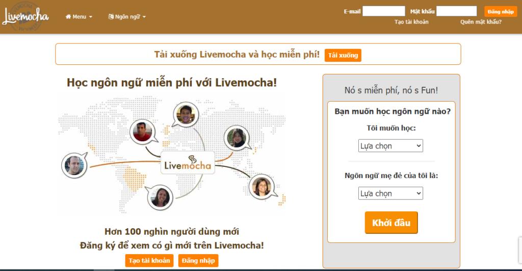 Học từ vựng tiếng Anh với Live Mocha