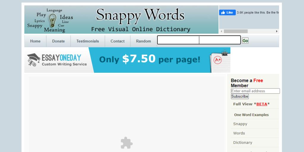 Học từ vựng tiếng Anh với Snappy Words
