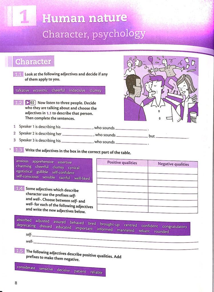 Bài tập trong sách Vocabulary for IELTS Advanced