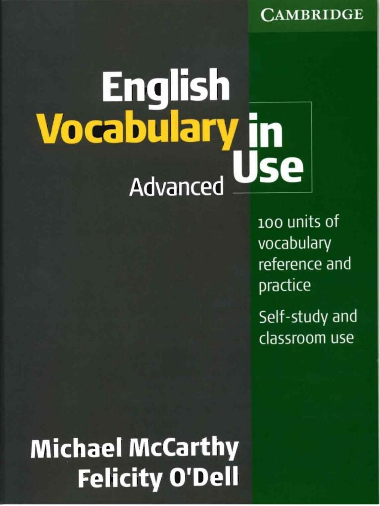 Cuốn sách English Vocabulary in Use Advanced