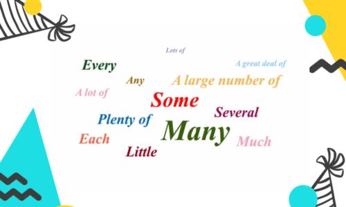 Phân biệt cấu trúc A lot of, Lots of, Plenty of, A large amount of, A great deal of