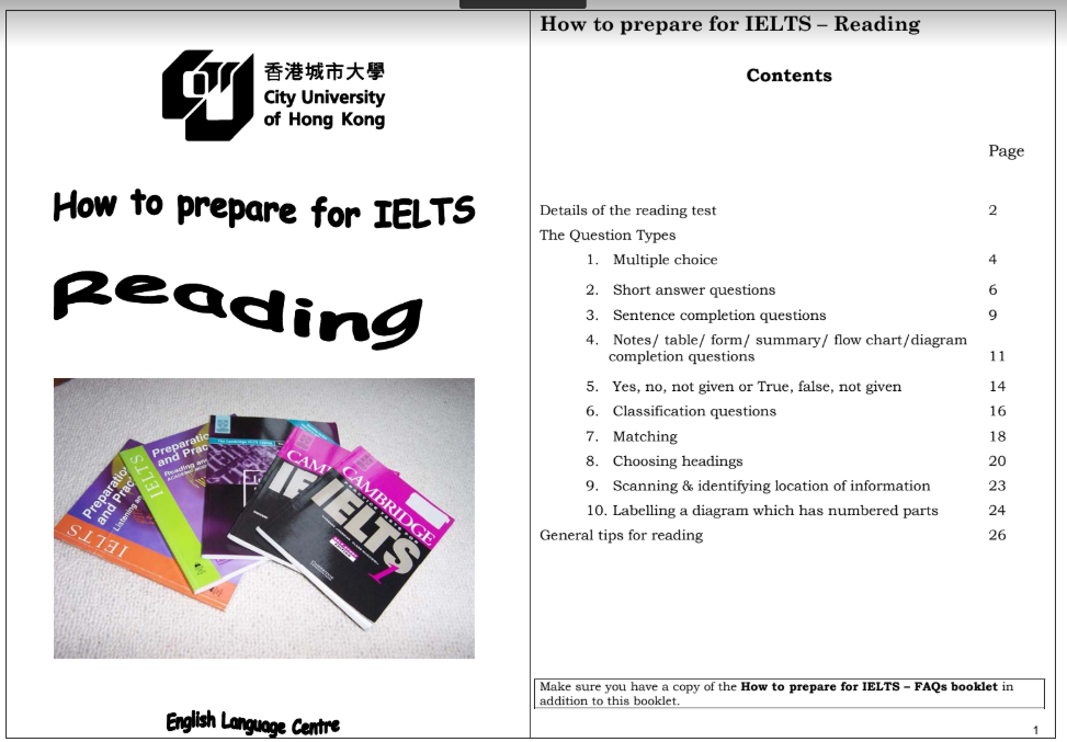 Cuốn sách How to prepare for IELTS Reading