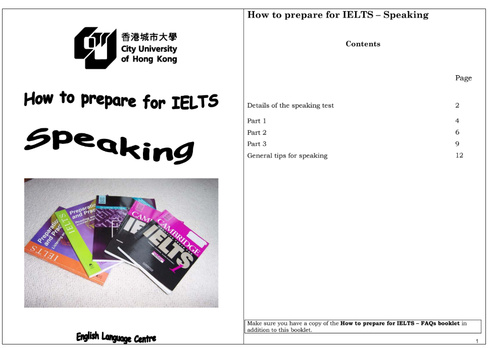 Cuốn sách How to prepare for IELTS Speaking