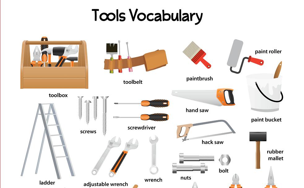 Từ vựng tiếng Anh dụng cụ xây dựng