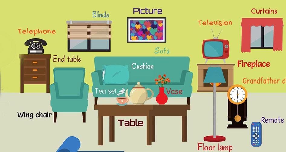 Thuật ngữ tiếng Anh chuyên ngành nội thất trong phòng khách