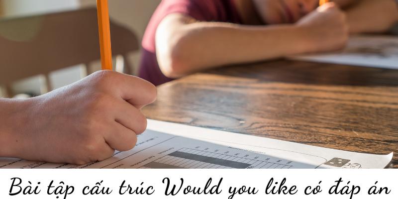 Bài tập cấu trúc Would you like có đáp án