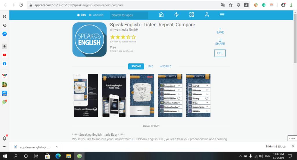 App Speak English- Listen repeat compare