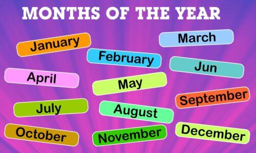 Bí mật Các tháng trong tiếng Anh cùng cách học siêu độc đáo