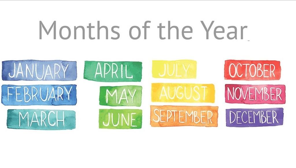Các tháng trong tiếng Anh
