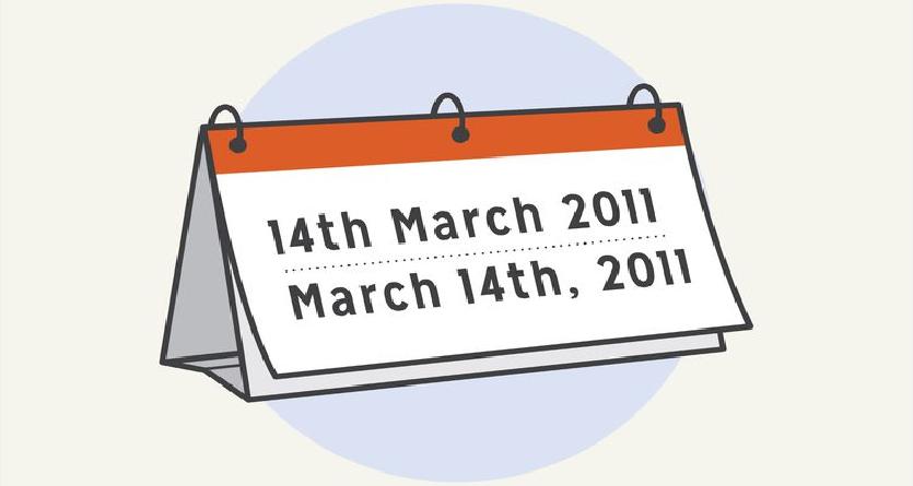 Cách ghi ngày tháng năm trong tiếng Anh