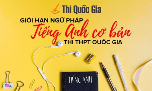 Tổng hợp ngữ pháp tiếng Anh thi đại học THPT Quốc gia cần có