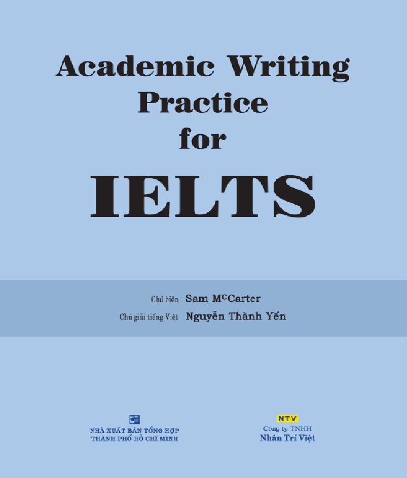Cuốn sách Academic Writing For IELTS