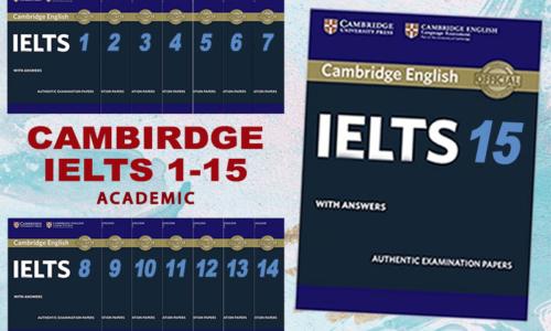 Download Sách Cambridge IELTS 1-15 Mới Nhất [PDF+Audio]