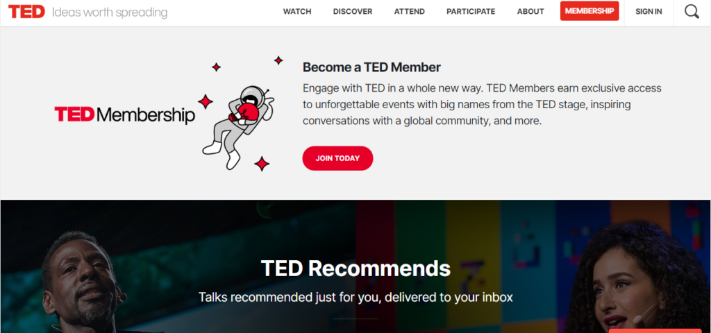 Website TED talk