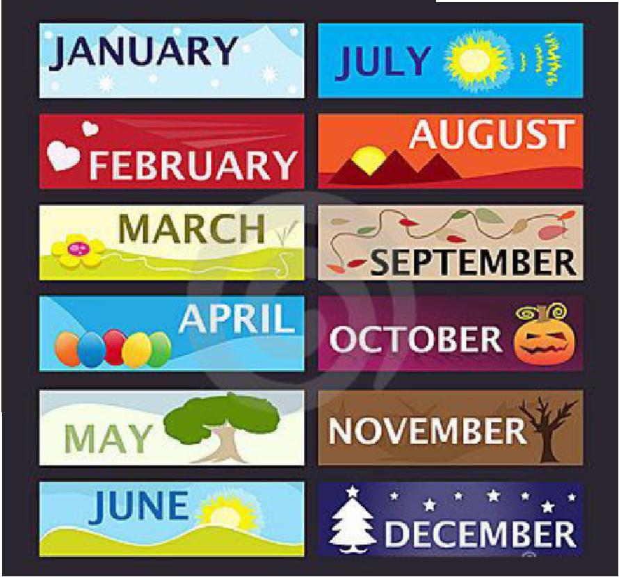 Ý nghĩa các tháng trong tiếng Anh