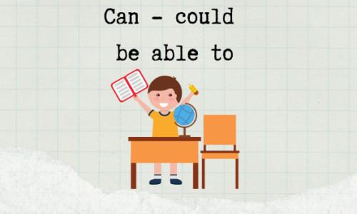 Bài tập động từ khuyết thiếu can, could, be able to trong tiếng Anh