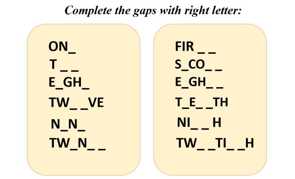 Bài tập về số đếm và số thứ tự trong tiếng Anh