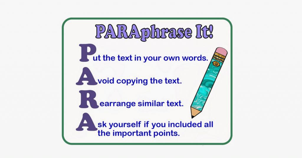 Bài tập về Paraphrase