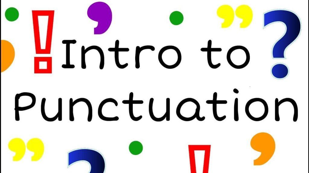 Giới thiệu các loại dấu câu trong tiếng Anh