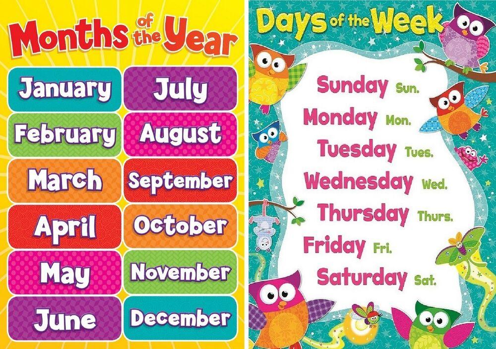 Cách nhớ các ngày tháng trong tiếng Anh