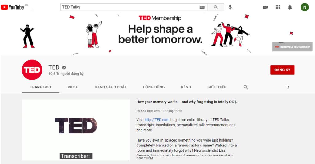 Kênh TED talk